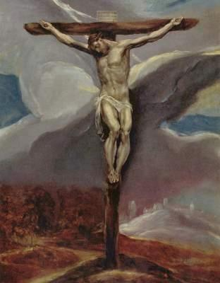 [El Greco - art print, picture - Christ on the Cross]